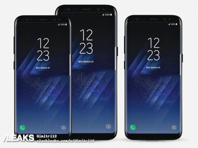 Новая утечка пресс-рендеров Samsung Galaxy S8 и Samsung Galaxy S8 Plus