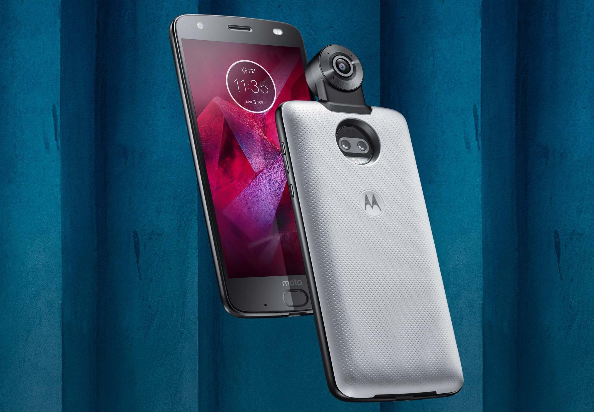 Новый флагман Moto Z² Force Edition и новый модуль 360 Camera Moto Mod™